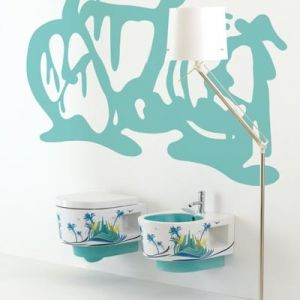 MERIDIANA Urban Vsurbbtx Miska wc z motywem dekoracyjnym