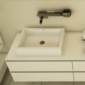 DIMASI BATHROOM Platinum Plt10208 Prostokątna umywalka kompozytowa