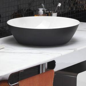 EXT Wet Umywalka nablatowa okrągła biało czarna
