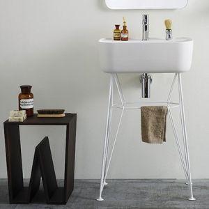 EXT Gus Konsola umywalkowa z białym stelażem