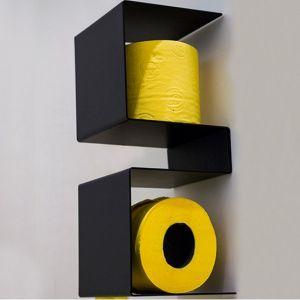 EXT Inteam Półka na papier toaletowy czarna