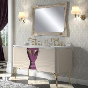MIA ITALIA Cipria 06 Szafka stojąca z podwójną ceramiczną umywalką
