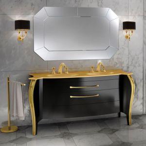 MIA ITALIA Belvedere 04 Szafka stojąca z podwójną szklaną umywalką