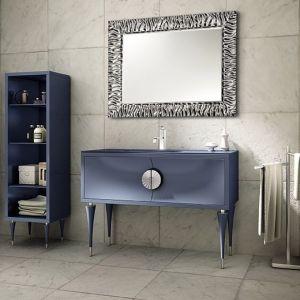 MIA ITALIA Novecento 01 Szafka stojąca z szklaną umywalką