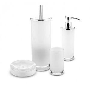 CIPI Glossy White Zestaw akcesoriów z białego szkła