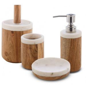 CIPI Prajat Zestaw akcesoriów z drewna i kamienia