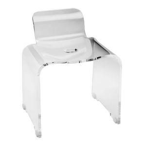 CIPI Ghost 74 Krzesło łazienkowe z przezroczystego akrylu