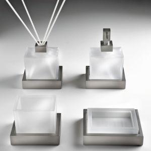 3SC SK20 Stojący komplet akcesoriów do łazienki nikiel inox