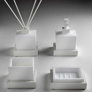 3SC SK20 Stojący zestaw akcesoriów do łazienki biały matowy