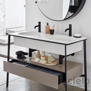 CERAMICA CIELO Catino Doppio Drawer Konsola umywalkowa z szufladą