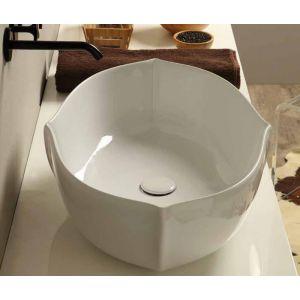 VITRUVIT Oyster OYSLAA Nietypowa umywalka nablatowa biała