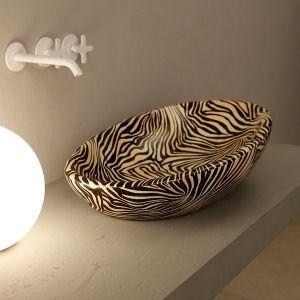 VITRUVIT Biko Zebra BIKLAAZ Oryginalna umywalka nablatowa