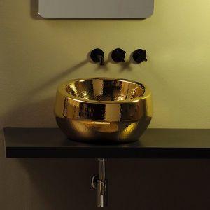 VITRUVIT Thabo THALAALG Umywalka nablatowa złota