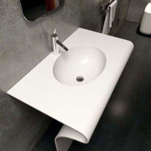 COMPONENDO Sedici Comp1 Umywalka z kompozytu biała