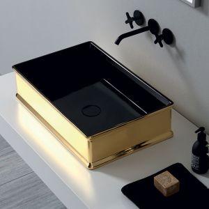 VITRUVIT Charme CHARMLAABIGE Umywalka prostokątna złoto czarna