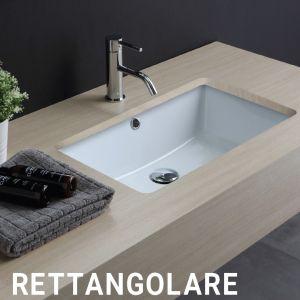 VITRUVIT Rettangolare Podblatowa umywalka biała lub czarna