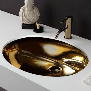 VITRUVIT Ovale Owalna podblatowa umywalka złota lub platynowa