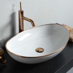 VITRUVIT Vessel Owalna umywalka nablatowa z dekoracją