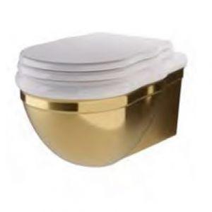 HIDRA CERAMICA Ellade DW10 Miska wc wisząca retro biało złota