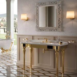 HIDRA CERAMICA Ellade D30_D35 Konsola umywalkowa złoto biała