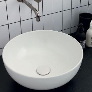 VITRUVIT Sky Włoska okrągła umywalka biała