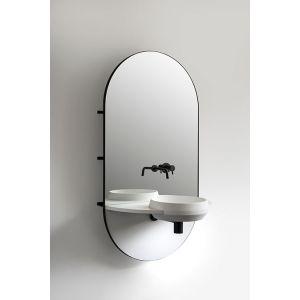 EXT Arco NE Czarny Nowoczesna umywalka z lustrem
