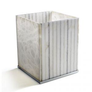 3SC Rigato AL65A Kosz na śmieci alabaster
