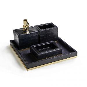 3SC Cocco CO99A Komplet akcesoriów łazienkowych skóra
