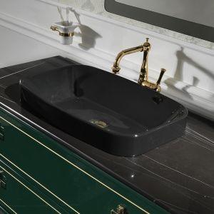 MIA ITALIA MLCESI016 Umywalka prostokątna czarna 60x38 cm