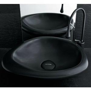MASTELLA DESIGN Sasso Sa00 Nietypowa czarna nablatowa umywalka