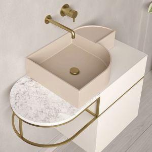 EXT Nouveau Oryginalna umywalka nablatowa jasny różowy 54 cm