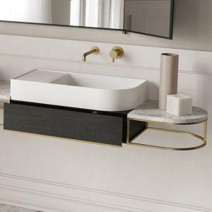 EXT Nouveau Włoska umywalka nablatowa prawa 70 cm